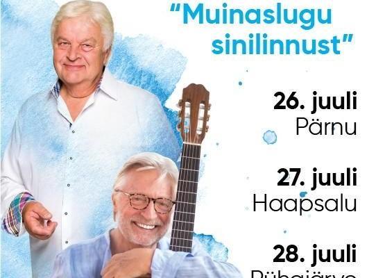 """Francis Goya ja Ivo Linna kontsert """"Muinaslugu sinilinnust"""" - Ammende Villa"""
